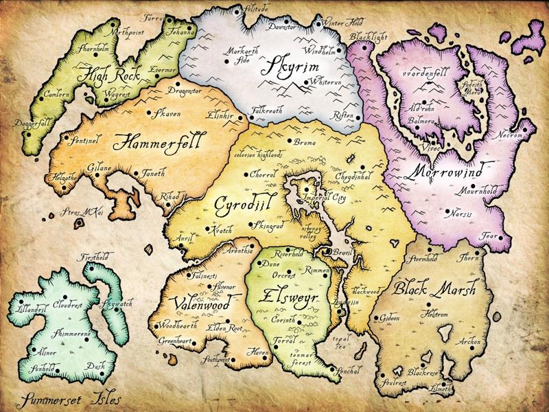 Oblivion Karte.Der Wahnsinn Mit Der Tamriel Karte Gamestar Pinboard